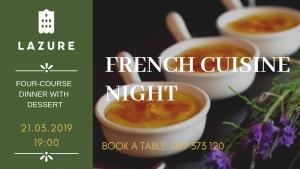 French Cuisine Night at Lazure Hotel & Marina