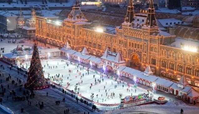 GUM skating rink (Red Square)