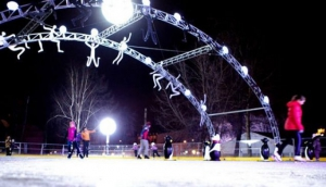 Ice rink in Bauman Garden