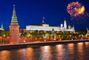 Moscow: Night Walking Tour and Metro Guided Tour