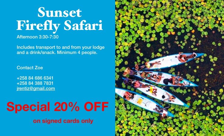 Canoe Safari Special 20% off