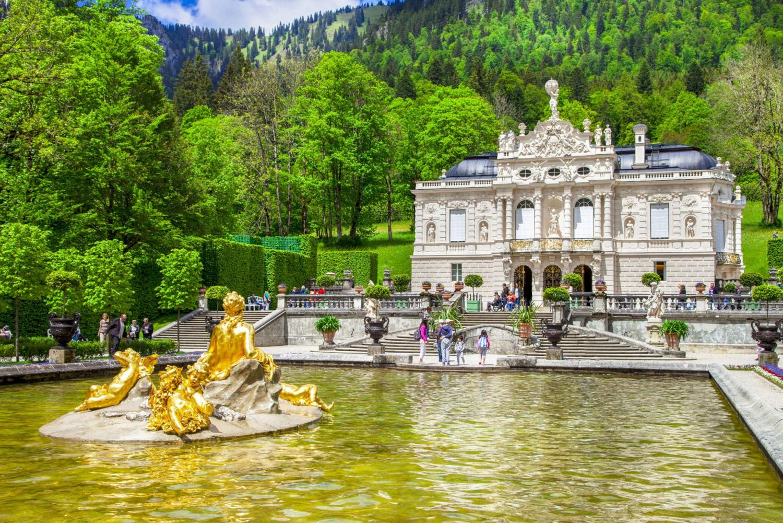 Linderhof Palace, Oberammergau & Wieskirche from Füssen