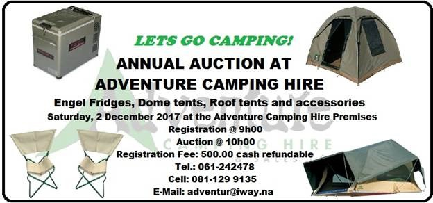 Adventure Camping Hire annual Auction