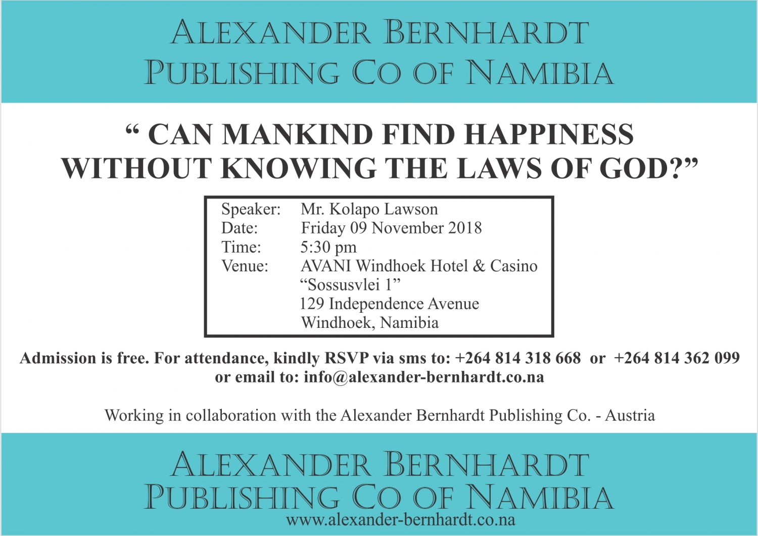 Can mankind find happiness without knowing the laws of God?