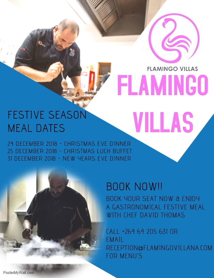 Flamingo Villas Christmas meals