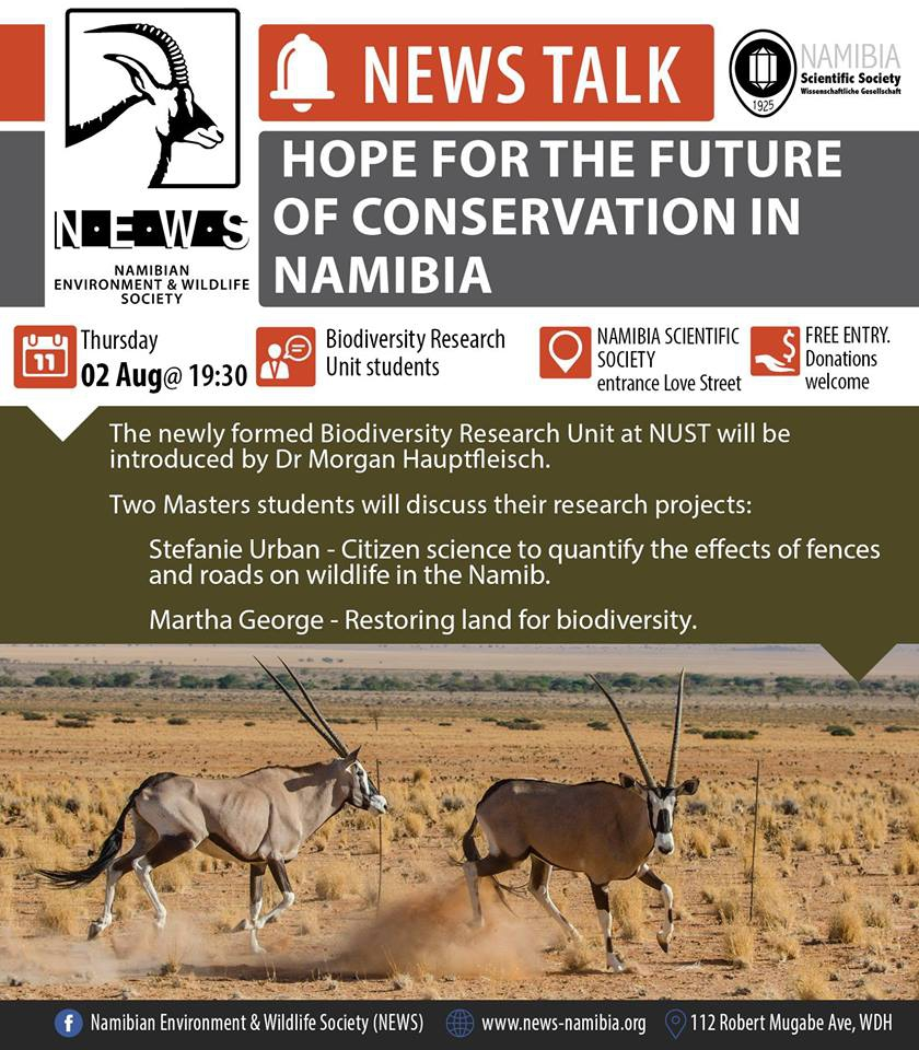 Hope for the future of conservation in Namibia