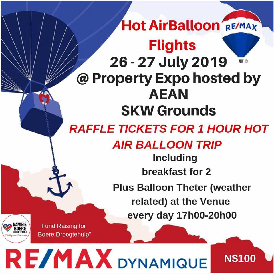 Hot Air Balloon Flight at the Property Expo Windhoek