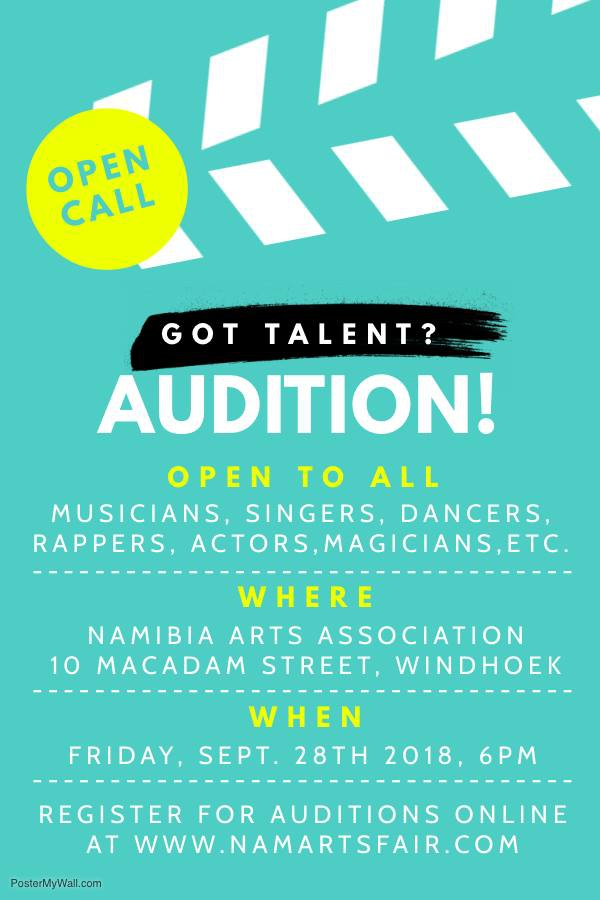 Namibia Arts Fair Audition Registration