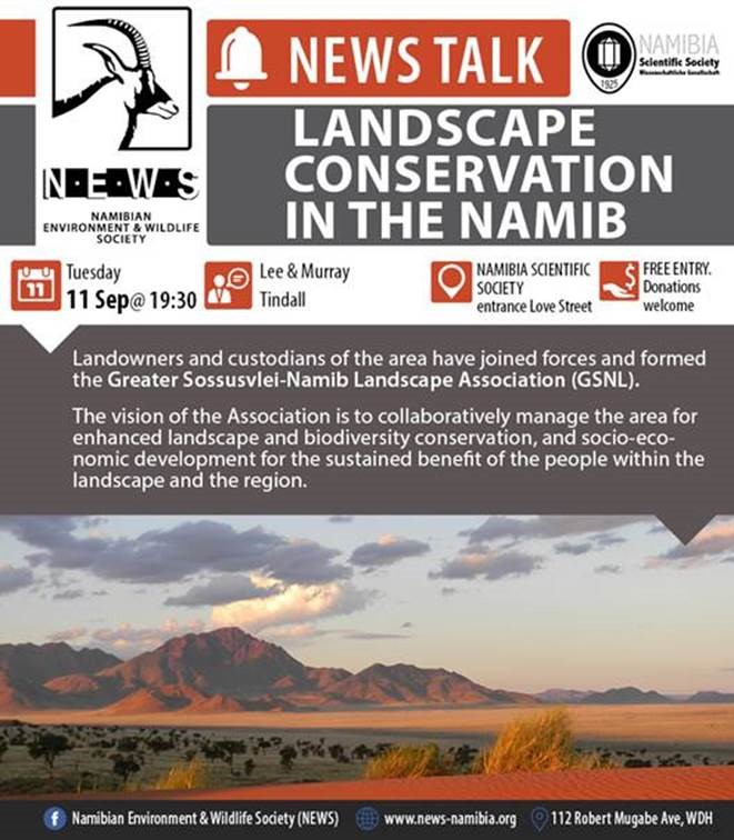 NEWS Talk: Landscape conservation in the Namib