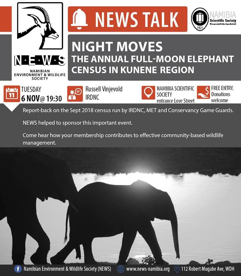Night Moves The Annual Full-Moon Elephant Census in Kunene Region
