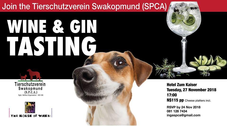 SPCA Swakopmund Wine & Gin Tasting