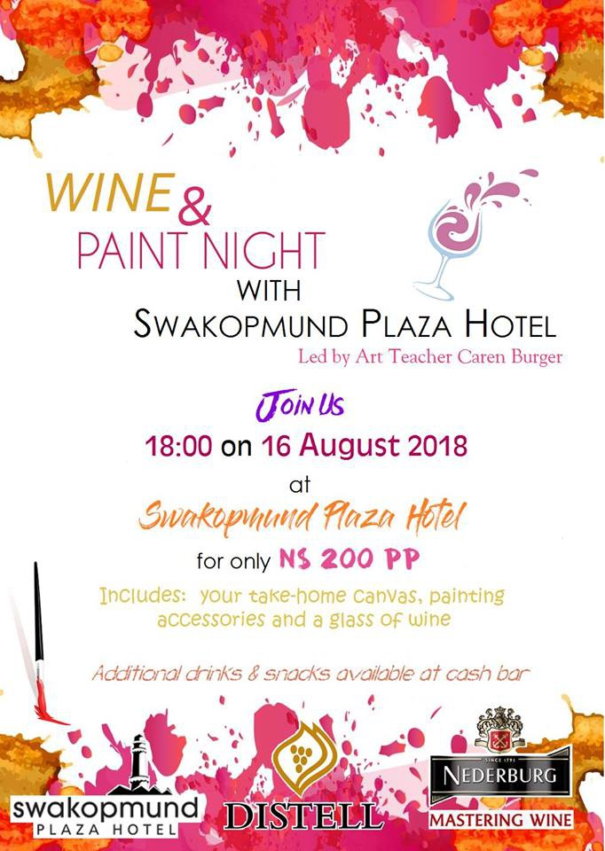 Wine & Paint Night at Swakopmund Plaza Hotel