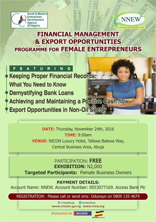 Financial Management and Export Opportunities Workshop
