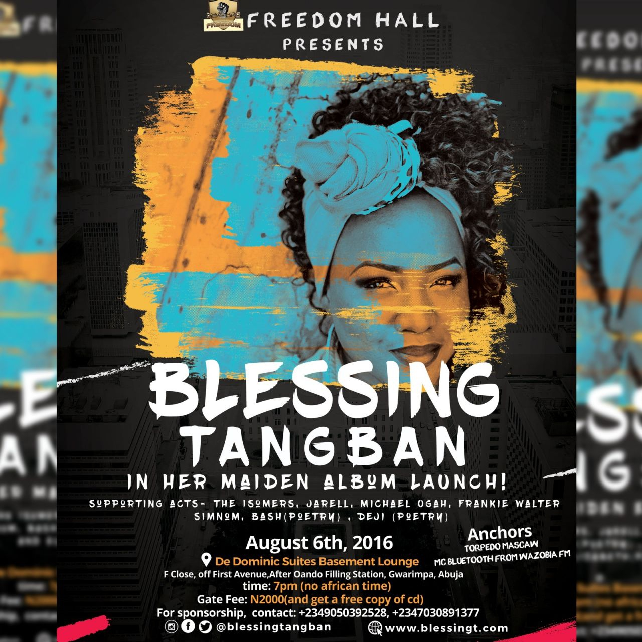 "FREEDOM HALL presents ""BLESSING TANGBAN' in her maiden album LAUNCH!"