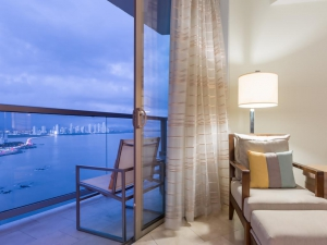 JW Marriott Hotel Guest Room with 2 Double Beds and Partial Ocean View