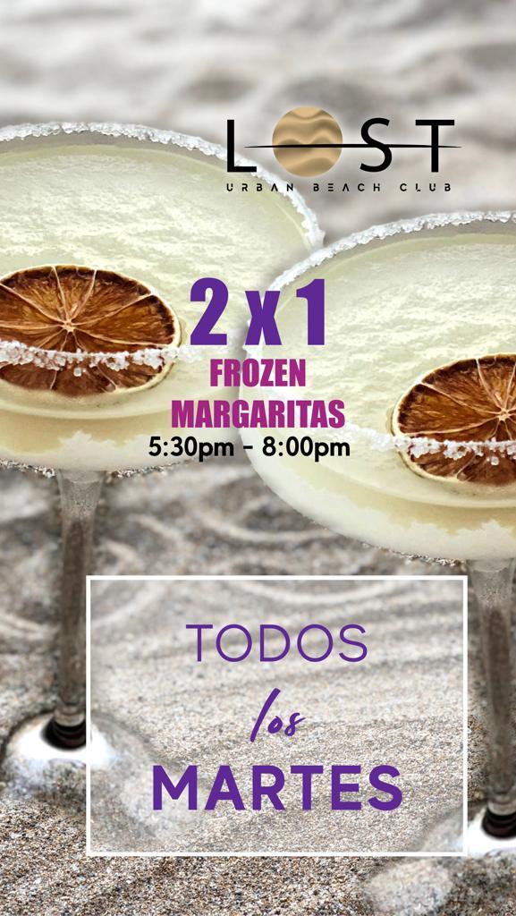 2x1 Frozen Margaritas