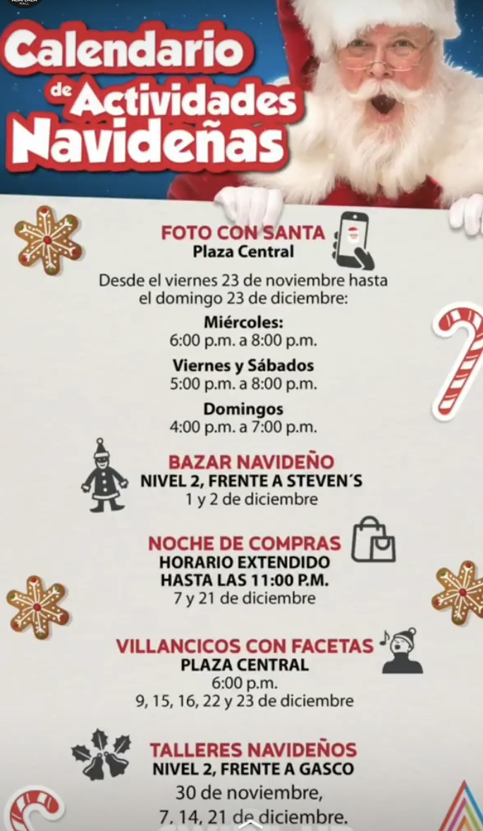 Calendar of Christmas activities