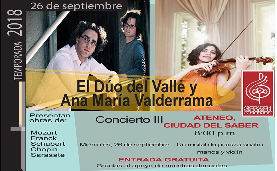 El Dùo del Valle y Ana Maria Valderrama en Concierto