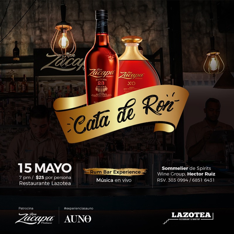 Lazotea Rooftop with Ron Zacapa degustation