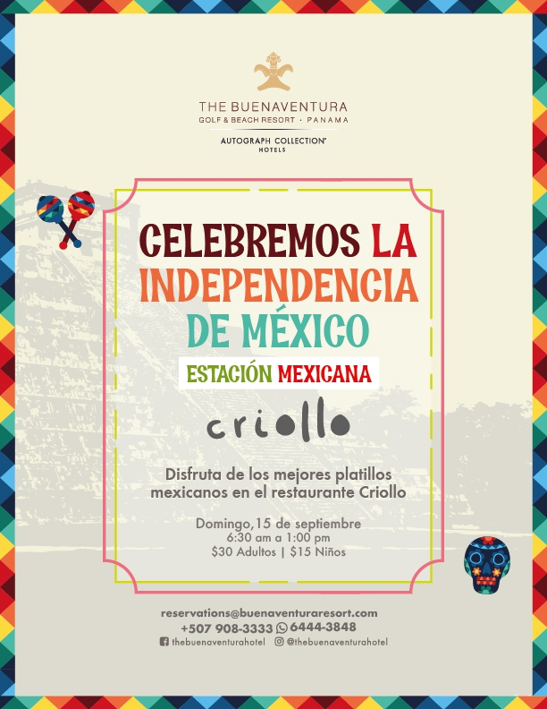 Let's celebrate the independence of Mexico