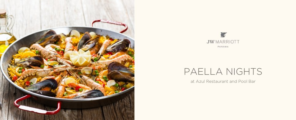 Paella Afternoon Azul Pool Bar & Grill