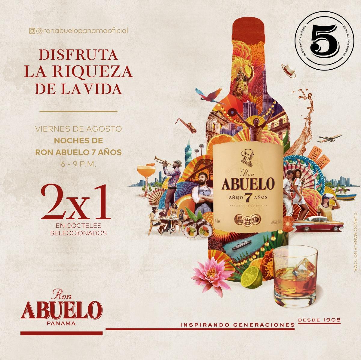 Ron Abuelo Fridays - 5inco restaurant