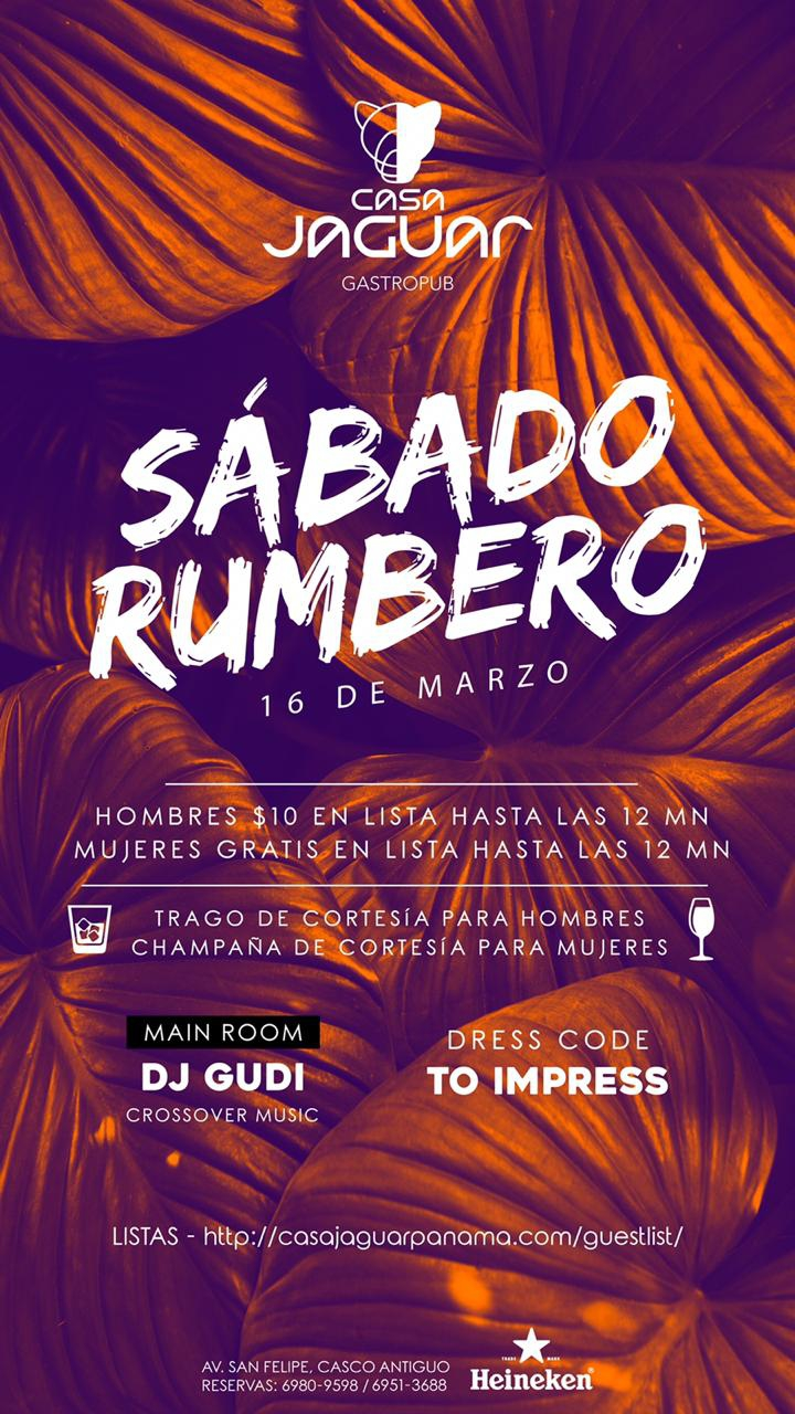 Rumbero Saturday