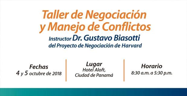 TALLER DE NEGOCIACIÓN Y MANEJO DE CONFLICTOS AL ESTILO HARVARD