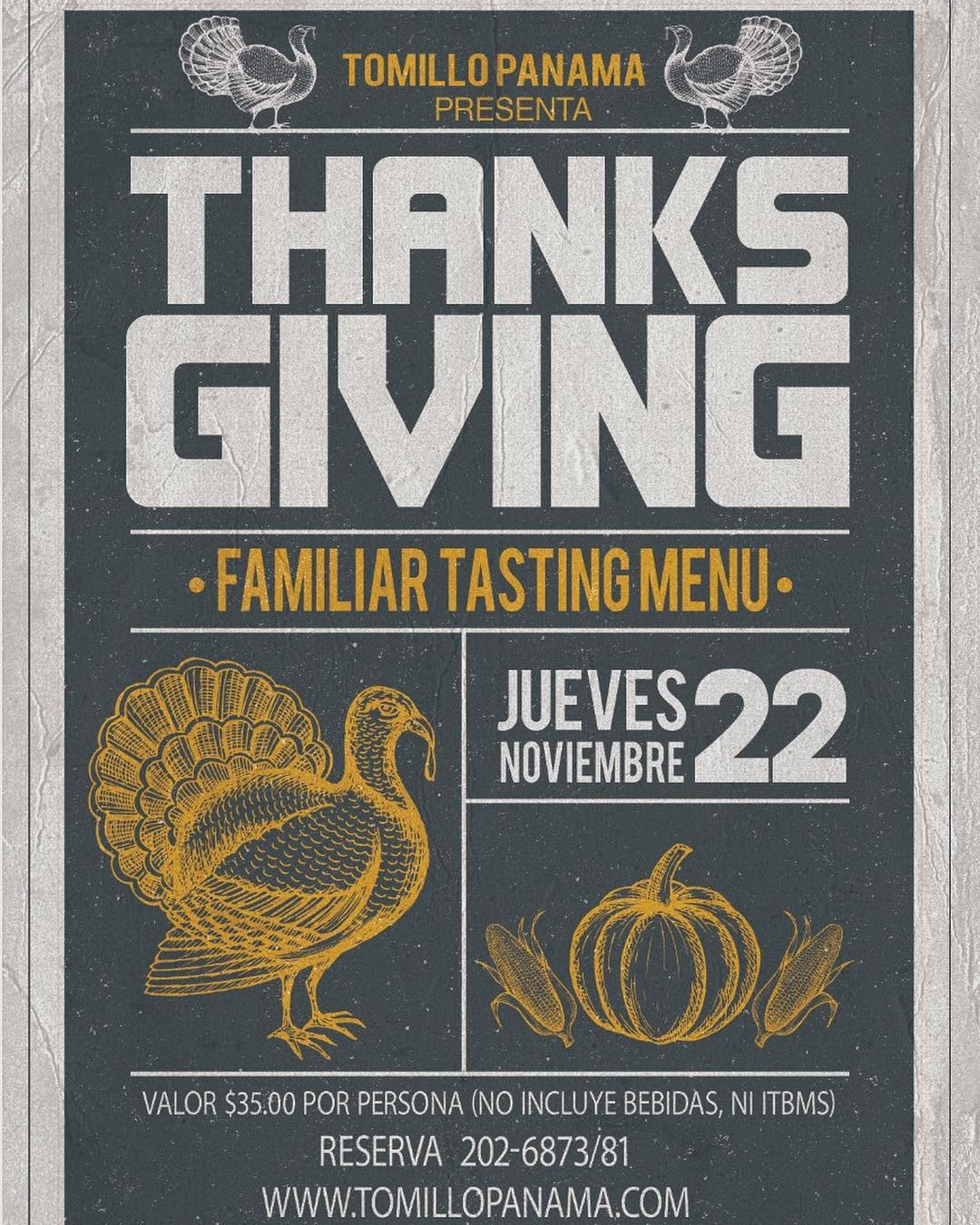 Thanks giving Tomillo Panama