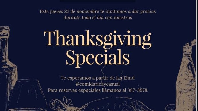 Thanksgiving Specials. Casa Escondida