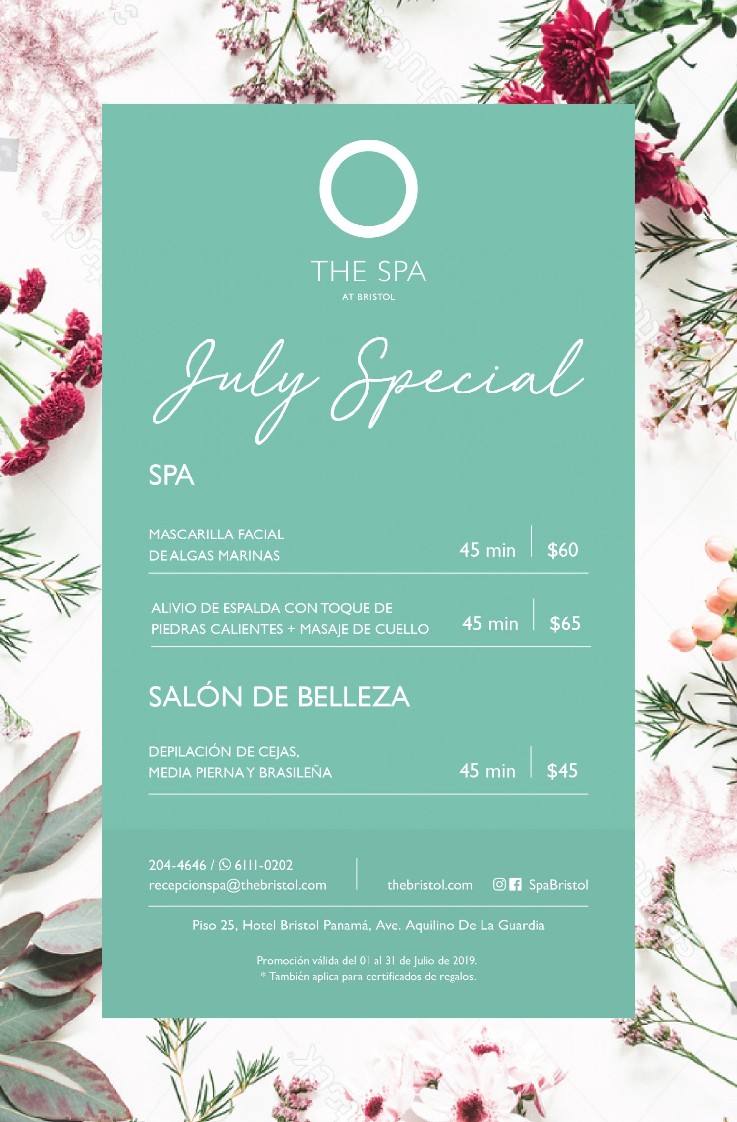 The Bristol Spa - July Special