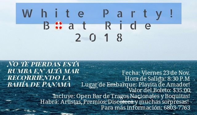 WHITE PARTY BOAT RIDE 2018