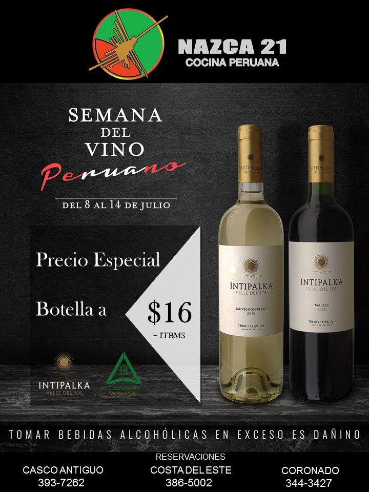 Wine Week at Nazca 21 restaurants