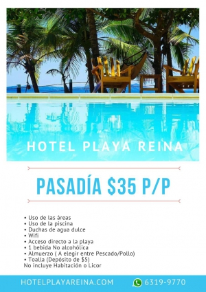 2x1 in Swimming Pool DayPass @ Playa Reina Hotel