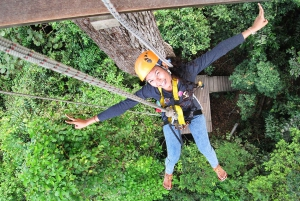 From Bangkok: Full-Day Eco Zip Line Adventure with Transfers