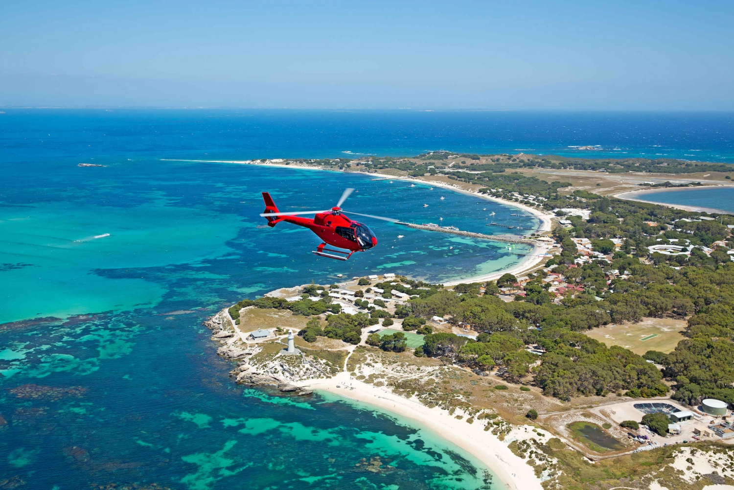 Rottnest Island Helicopter Flight & Ferry Experience