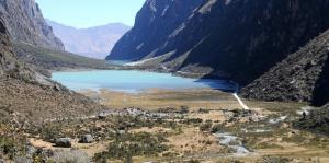 Route Santa Cruz Llanganuco Ravine