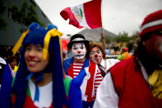 Clown Day in Lima - Peruvian Clown Day