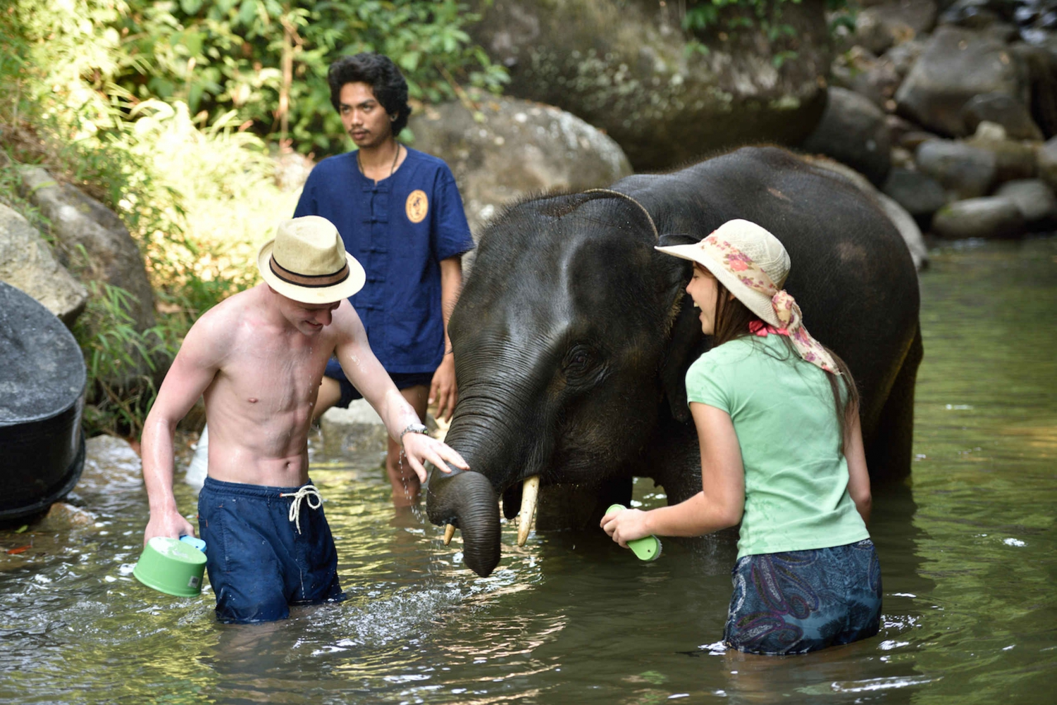Phang Nga: Ethical Elephant Care Experience with Rafting
