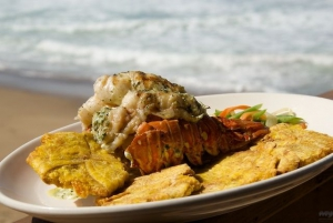 Tamboo Lobster Tail and Tostones