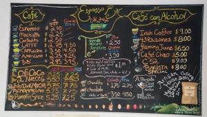 Caficultura Espresso Bar Menu