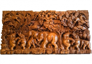 Wooden Wall Carving