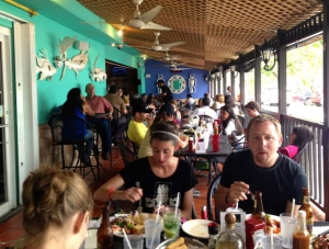 Dining on the Terrace at La Parrilla Restaurant