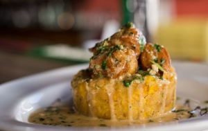 Famous Mofongo with Fried Pork and Garlic Sauce