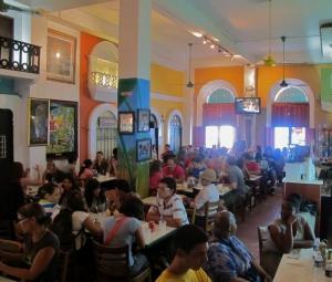 Diners at Rest. El Jibarito, Old San Juan