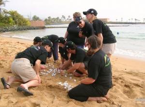 Team Building on Beach