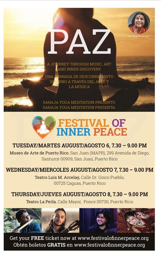 PAZ - FESTIVAL OF INNER PEACE Music and Meditation
