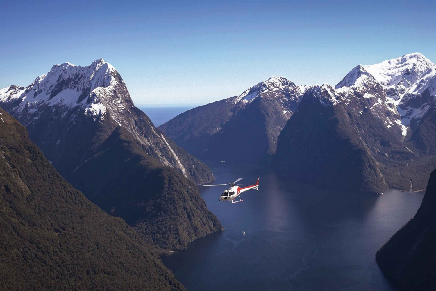 Milford Sound Fiord Cruise & Helicopter Glacier Landing