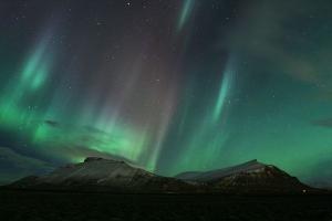 Northern lights over Akrafjall