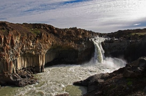 Skjalfandafljot waterfall